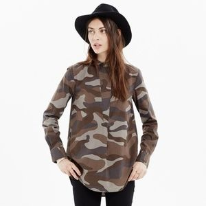 MADEWELL The Perfect Tunic in Cotton Camo {R2}
